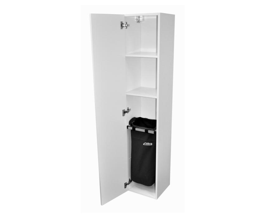 Sanitaircema: sanicare badmeubel kolomkast met waszak 160 cm